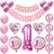 Oumezon festa di compleanno per bambine 1 anno, primo compleanno decorazione per ragazza,...