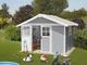 Casetta da giardino Deco 7,5 grigio chiaro Grosfillex