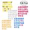 Toyvian 130pcs Pasters 26 lettere autoadesive scintillanti non tessuto EVA artigianato ade...