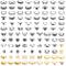 Defrsk - Set di anelli per nocche, 102 pezzi, stile vintage, per donne e ragazze.