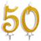 Candeline Maxi 50 Anni per Torta Festa Compleanno Matrimonio 50 Anni   Decorazioni Candele...