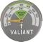Valiant FIR116 - Termometro magnetico, Verde/ Grigio, 63 mm
