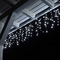 Tenda Luce LED Colore Bianco Freddo Esterno Tenda Luminosa a Cascata Illuminazione Natale...
