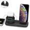 Supporto Caricabatterie 3 in 1 Caricatore Stand per A pple Watch, Qi wireless caricatore s...