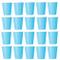 50X Bicchiere luminoso blu USA E GETTA PER BEVANDE fredde e bevande calde in cartone ecol...