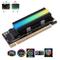 EZDIY-FAB NVME Adattatore PCIe con Dissipatore di Calore 5V ARGB,M.2 NVME SSD NVME ad Adat...