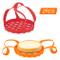 yidenguk 2 pezzi Imbracatura per pentole a pressione Sollevatore a cestello per cottura a...