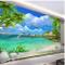 Yzybz Murale Della Parete Del Paesaggio Della Foto Del Mare Della Spiaggia 3D Per Il Salon...