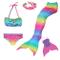 Romance Zone Coda da Sirena per Nuotare Costumi da Bagno Ragazza 5pcs Mermaid Insiemi del...