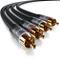Primewire - 0,5m Cavo RCA Stereo - 2X RCA Maschio a 2X RCA Maschio - Connettori Dorati Aut...