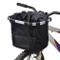 LQKYWNA Cestino Pieghevole per Bici, Telaio in Lega di Alluminio e Tessuto Oxford, Cestino...