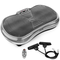FITFIU Fitness PV-100 - Pedana vibrante oscillante colore grigio e potenza 400w, Piattafor...