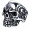 JewelryWe Gioielli Anello da Uomo Donna Acciaio Inossidabile Gotico Teschio Cranio, Colore...