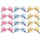 12 occhiali da sole rotondi assortiti stile hippy anni '60/'70, con montature in metallo |...