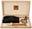 Laguiole Claude Dozorme, 2.60.062.89, Set da ostriche, manico in legno d'ulivo, Acciaio/Le...
