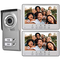 Sistema di campanello video, sistema di campanello citofonico Bewinner 2 Famiglie, citofon...