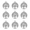 100pz Pendenti Ciondoli Colore Argento Antico Tibetani, Ciondolo Albero della Vita per Gio...