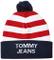 Tommy Hilfiger Americana Berretto con Pompon, Multicolore (Corporate), Unica (Taglia Produ...