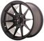 Japan Racing jr11Matt Black 9X 17et254X 100/108cerchi in lega