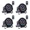 Luci Palco,UKing Faretto per palcoscenico LED Faretto par per DMX512 RGB illuminazione per...