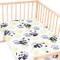 Bambù panda - Pati'Chou 100% Cotone 1 (un) Lenzuolo motivo animali per culle bambino 50x83...