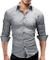 Merish Camicia Uomo Slim Fit 14 Colori Taglia S - XXL Modell 01 Grigio XXL