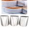Set di 3 beccucci per glassa, extra grandi, in acciaio inox, per decorare torte, torte, to...