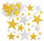 Baker Ross Adesivi Stelle Glitterate Oro e Argento per Bambini, Perfetti per Creazioni Fai...