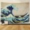 """Amkun, Arazzo, Da parete, Stampa della """"Grande onda"""" di Kanagawa, Decorazione domestica, P..."""