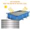 Copertura solare ovale argento | Coperta riscaldante per piscine ovali interrate e fuorite...