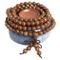 Collana mala 108, 6 mm, da preghiera, da donna, in legno naturale, tibetana, buddhista, pe...