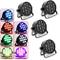 Haroldol 4 faretti da palcoscenico RGB 12 X 10 W LED PAR Illuminazione DMX512 Auto/Sound M...