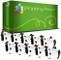 Printing Pleasure 10x DK-11209 29mm x 62mm Compatibile Rotolo da 800 Etichette adesive per...