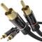 KabelDirekt 0,5m Cavo RCA, (Coassiale Audio Stereo 2 Connettori, RCA Maschio su 2 Connetto...