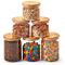 EZOWare Set di 6 Barattoli di Vetro, Contenitori per la Conservazione degli Alimenti con C...