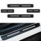 Per 206 207 208 307 308 Battitacco Soglia Porta Auto,Carbon Fiber Sticker adesivi Styling,...
