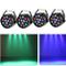Set di 4 luci da palcoscenico 15 W LED RGB Flat PAR luce DMX illuminazione da palcoscenico...