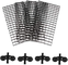 BANGBANGSHOP - Divisori divisori per acquario, 4 pezzi, griglia per filtro acquario, grigl...