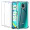 Leathlux Cover Xiaomi Redmi Note 9S / Note 9 Pro Max Custodia Trasparente + 2 × Pellicola...
