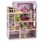 COSTWAY Casa delle Bambole in Legno, Giocattolo dei Bambini con Accessori, 81 x 60,5 x 29,...