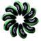 Callaway coprimazza ferri golf 10pcs/set nero/verde MT/C07