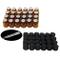 Yizhao Essential Oil 1ml Amber Sample Glass Bottle, Samll Sample Glass Vials Empty for Ess...