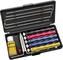 Lansky - Set affilacoltelli Deluxe con 5 coti, Morsetto, Guide, Olio per affilatura e Scat...