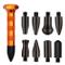 GS, kit di strumenti per la rimozione delle ammaccature senza verniciatura, 9 testine