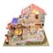 Kit fai da te per casa delle bambole in miniatura con mobili fatti a mano, casetta con luc...