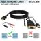 Adattatore VGA HDMI Cavo con Audio,Convertitore/Adattore da VGA a HDMI(PC Vecchio Stile a...