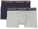 Tommy Hilfiger 2P TRUNK Intimo, Multicolore (Grey Heather/Navy Blazer 901), 8-10. (Talla p...