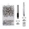 HO2NLE Kit Occhielli per Teloni 12mm Occhiellatrice per Teloni Professionale 100Set Occhie...