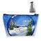 Borsa per trucco Cosmetic Winter Water Ball Snow Portable Cosmetic Bag Mobile Trapezoidal...