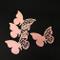 ElecMotive 50 Pezzi Farfalle 3D Segnaposto Farete Misura Grande Adesiv da Parete Casa Deco